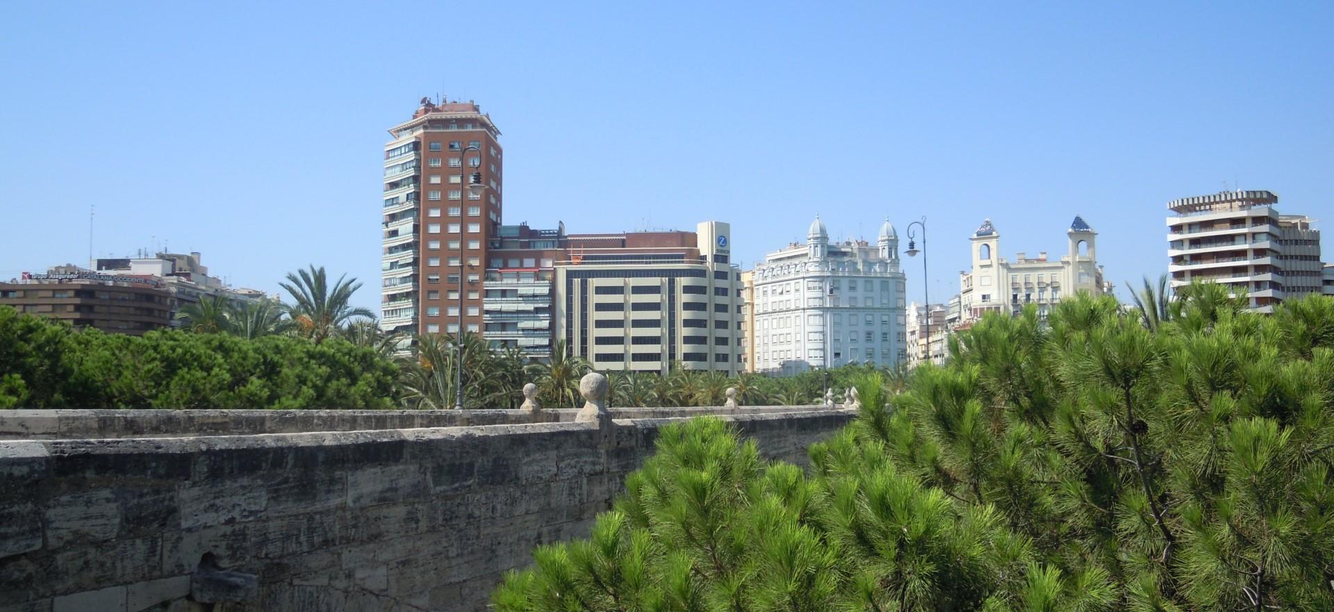 Edificio America in Valencia panoramical view