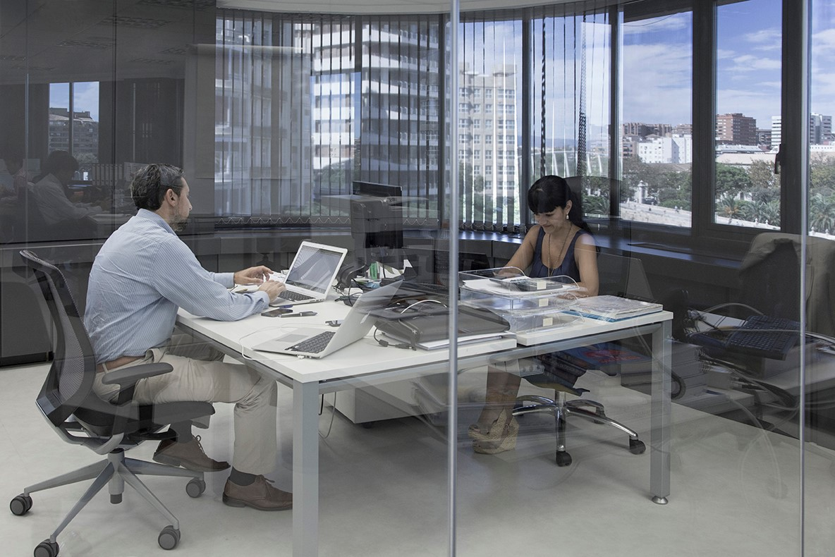 Interior oficinas Edificio America